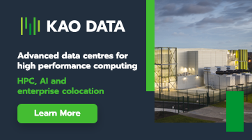Advertisement: Kao Data Centre side banner