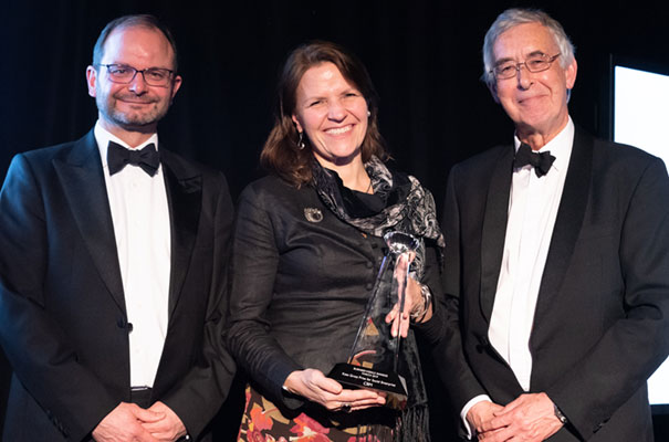 Kirsty Smith, CEO of CBM UK receives The Kate Gross Award for Social Enterprise