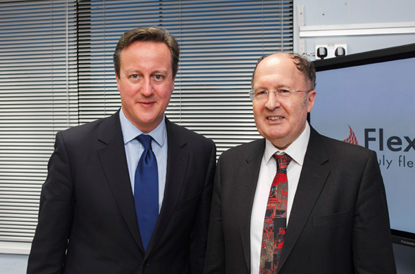 PM David Cameron with Sir Greg Winter