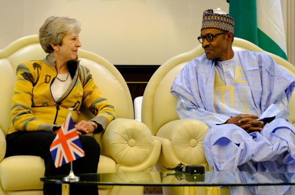 Theresa May in Nigeria