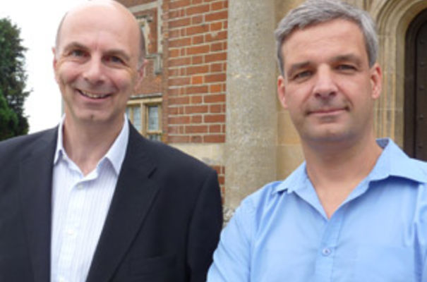 Dr Alan Watt, CEO of Autophagix (left) and Richard Hale COO