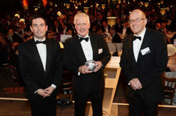 From left to right – Steve Bates, BIA CEO, Andy Richards, BIA Lifetime Achievement Award winner, and Tim Edwards, BIA chairman.