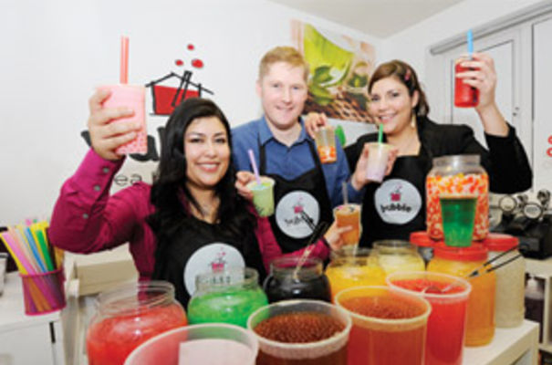 Ana Novoa, Paul Wallace and Dianna Novoa of Bubble Tea House Company