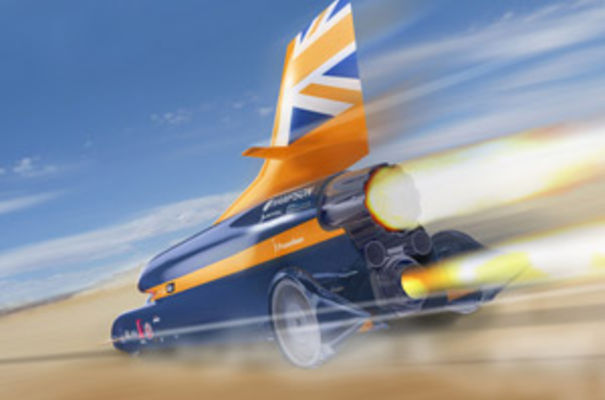 A team of engineers at Cambridge Design Partnership is involved in finalising the design of the steering wheel for manufacture as part of the Bloodhound Project