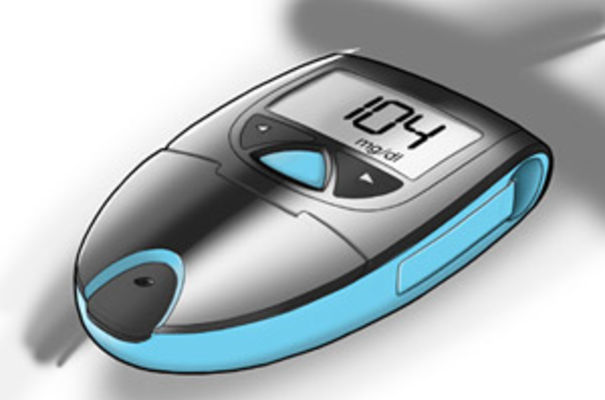 blood glucose monitor concept for diabetics