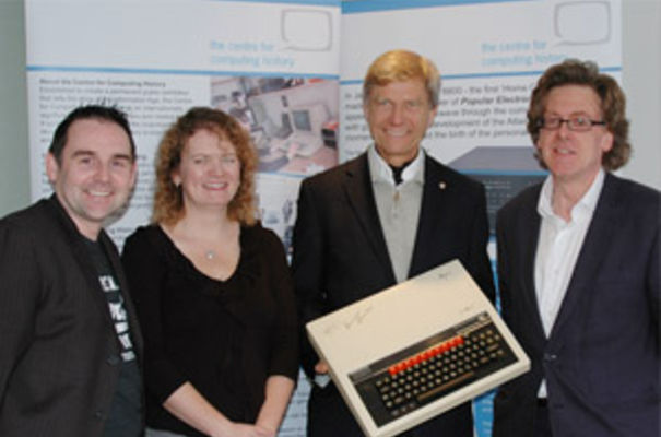 (left to right) Director - Jason Fitzpatrick, Trustee – Dr Lisa McGerty, Patron - Dr Hermann Hauser, Trustee - Peter Robson.