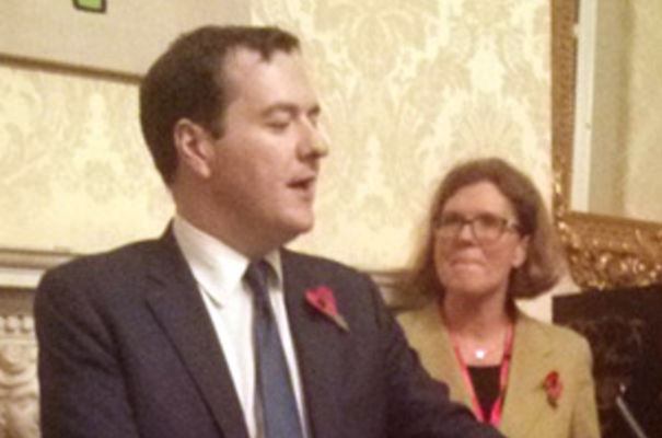 George Osborne and Sherry Coutu