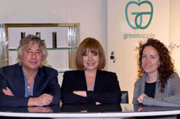 (left to right) David Applebaum with Vivien Creegor and Louise Kelly