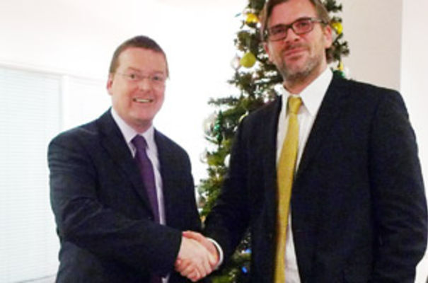 Douglas Young managing partner of Lovewell Blake with James Frost, chief operating officer at HLB International