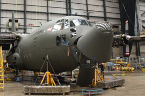 Work is underway on the first of three Hercules C-130Ks for the Austrian Air Force