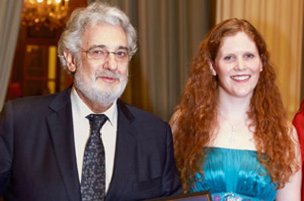 Placido Domingo with Sarah Power