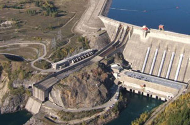 An aerial view of the BCHydro facility