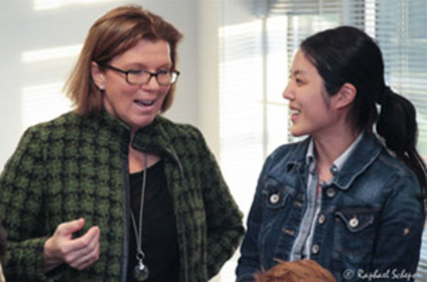 Sherry Coutu with Wei Liu from MyKindaPlace