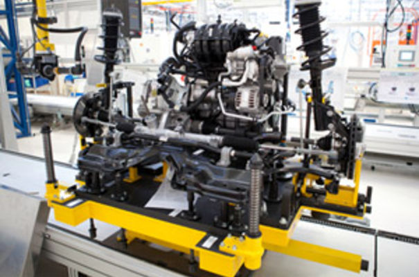 The result of using the Ubisense smart factory system will be a significant reduction in unproductive assembly time