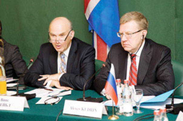 Business Secretary Vince Cable (left) in Moscow