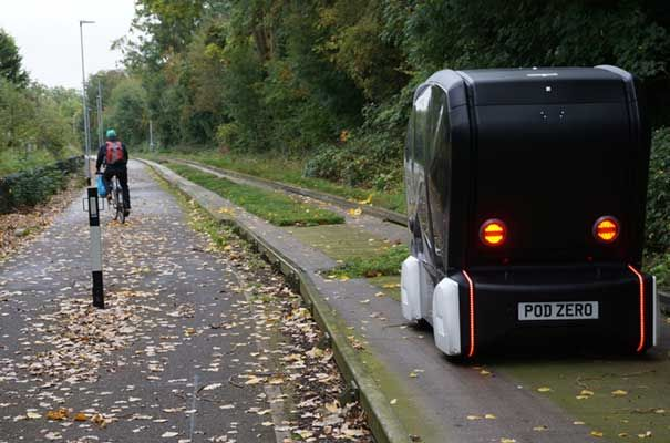autonomous vehicle trial Cambridge UK