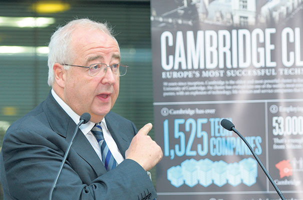 Dr David Cleverly co-founder of Cambridge Network and Abcam