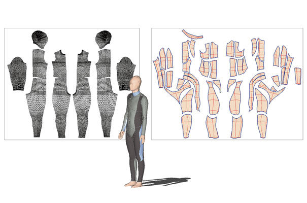 software tool that flattens 3D developable freeform surfaces into 2D patterns
