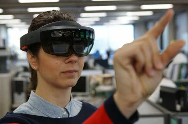 Hololens technology from Microsoft Research in Cambridge