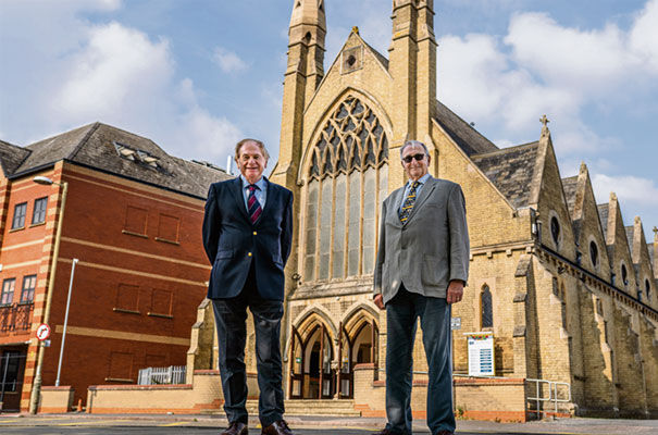 Peter Breach, chairman of Hawksworth Securities PLC and John Holdich, leader of Peterborough City Council