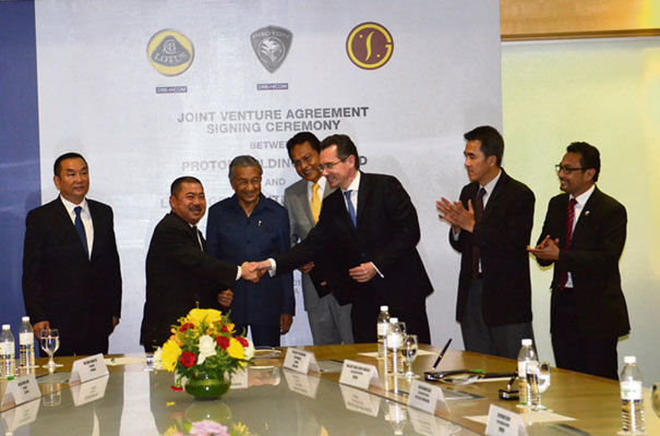 Lotus Group International, PROTON and Goldstar Heavy Industrial signing the joint venture agreement