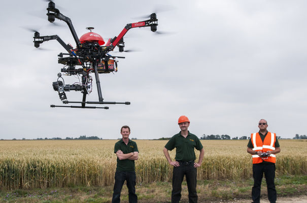 "A drone being flown by Skyview Robotics: ""the sensor can detect subtle differences in the canopy colour"" (image copyright Al Pulford/Skyview Robotics)"