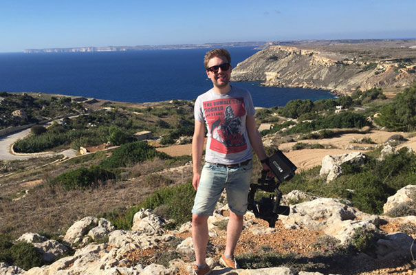 Tom Martin on location in Malta