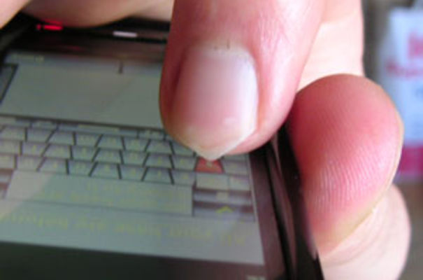 Touchscreen on a mobile phone. Image via Wikipedia