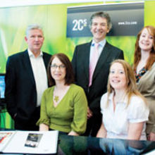 From left to right: Craig Whinney, Bob Woolliams, Louise Holder, Vaughan Freeman, Rachel Pepper, Jess Topham, Kate Bowden Smith