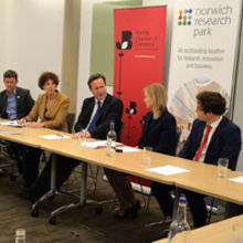 PM David Cameron unveils £300 million upgrade for the A47 at meeting with Norfolk Chamber of Commerce