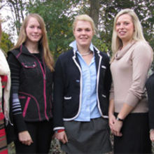 (left to right) Julia Lindfield, Joanna Lowe, Charlotte Dann, Fiona Hirst and Emily Rout