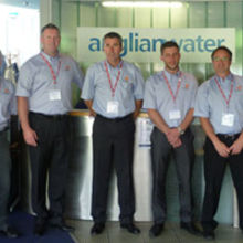 Deritend staff working on the Anglian Water contract, (left to right): Mark Dorrell, Stuart Hutchinson, Richard Hale, Dominic Peel and Mike Smith