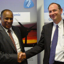 His Excellency Ambassador Berhanu Kebede of Ethiopia and John Siegfried, the CEO of ARKeX