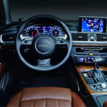 Audi vehicle interior – digital instrumentation and navigation powered by NVIDIA.