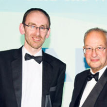 Graham Budd of ARM with Lord Sainsbury