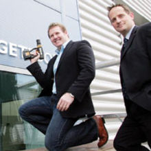 Mark Hulme (The Cambridge Food Company) with Colin Moulder (NatWest)