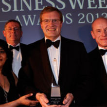 Ted Wiggans of Xaar receives the Business of the Year Award