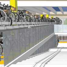 The cycle parking facility will be operated by the train company Greater Anglia under its Cycle Point brand