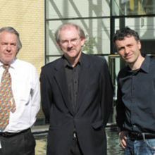 Professors Bill Milne, Julian Gardner and Florin Udrea