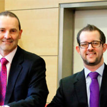 Philip Pitt (left) with Mark Fletcher. Picture courtesy – Newsmakers PR