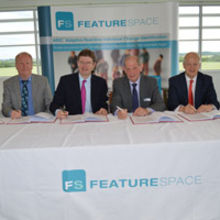 Key players sign City-Deal at the offices of Featurespace in Cambridge