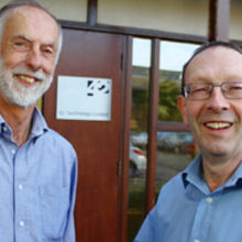 Howard Biddle hands the MD role at 42T to Dave Wilson (right)