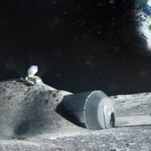 Lunar base made with 3D printing. Image courtesy the European Space Agency