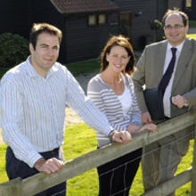 (from left to right) Stuart Bradshaw, Susie Bradshaw, Matthew Swan (NatWest)