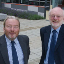 Mark Goodson (left) with John Hall