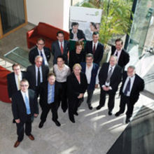 Ann Wardle of East of England Investor Development (centre front) with Tony Keston of UKTI and delegates of the R & D Forum