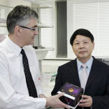 Dr Nick Gee (left), CEO of Innova Biosciences