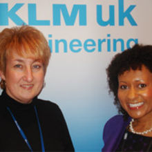 (left to right) Kerry Flower, Head of Personnel and Training at KLM UK Engineering pictured with Rachel Blackburn, Director of US2U Consulting.