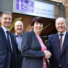 From left to right, Larking Gowen chairman, David Whitehead; former managing partner Bob Rose; Rachael Davison and partner and head of business recovery Andrew Kelsall