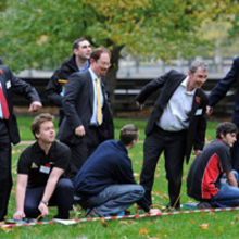 MP's launch the 2014 UK Aerospace Youth Rocketry Challenge at Victoria Tower Gardens, Westminster